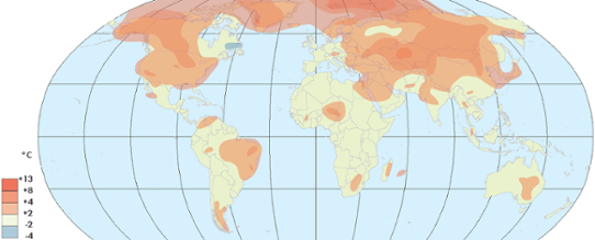 Global temperaturanomali i mars 2016