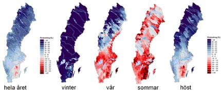 Kartor visar framtida vattentillgång