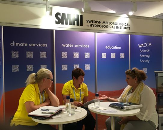 SMHIs monter på World Water Week 2016