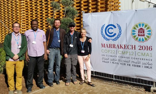 The team that planned the climate effect atlas for Africa