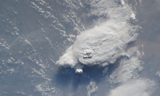 Large convective cloud over Sahel, photo by NASA.