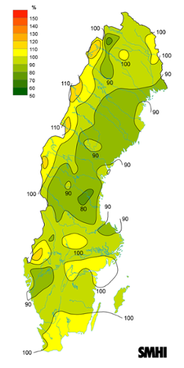 Byvindens avvikelse från det normala (1996-2015) under september 2017.