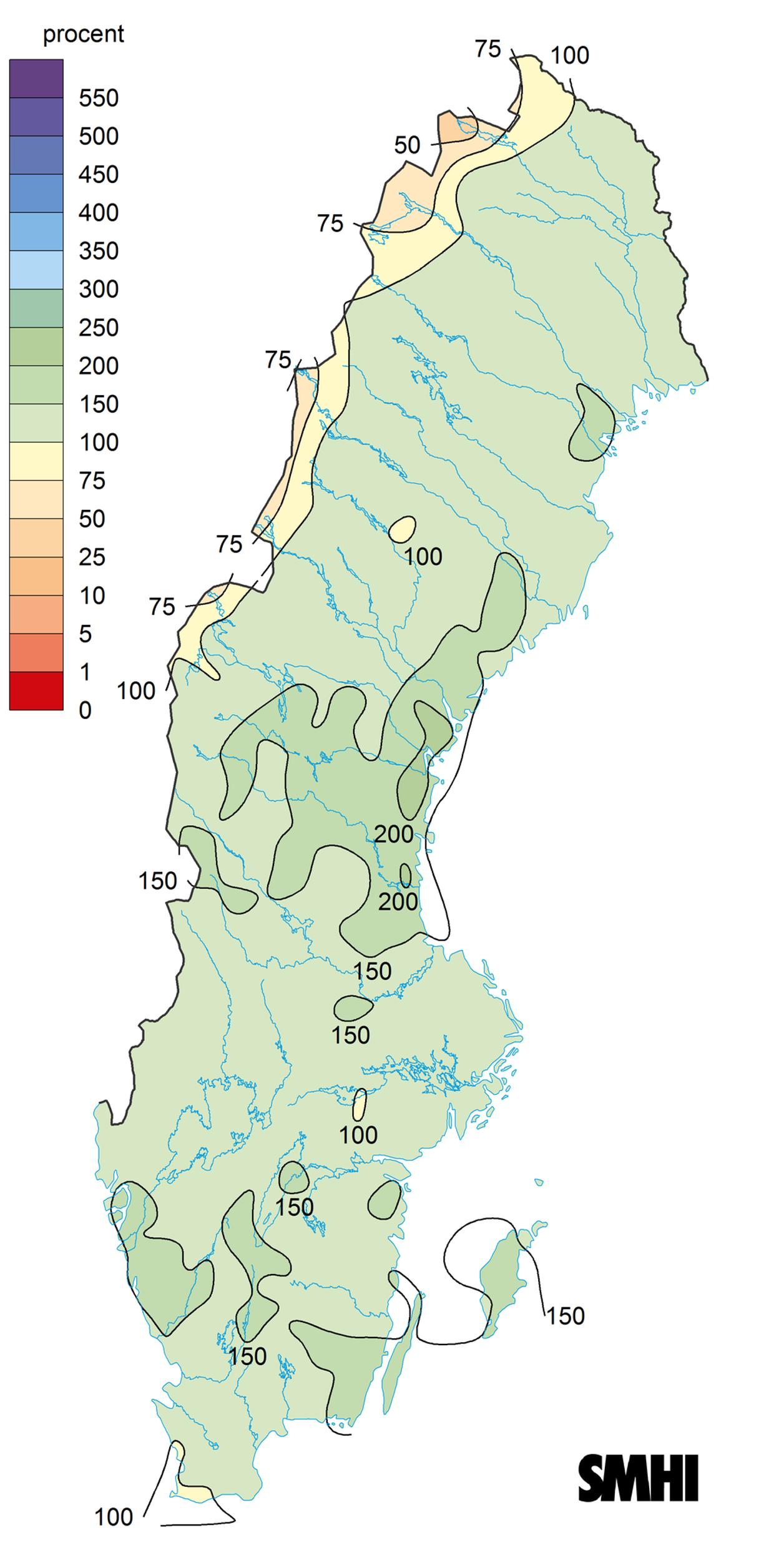 Rekordvarme i norr och vast