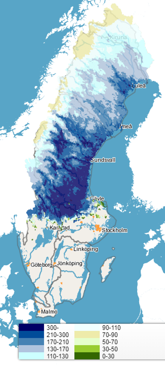 Vatten-snö 16 april 2018