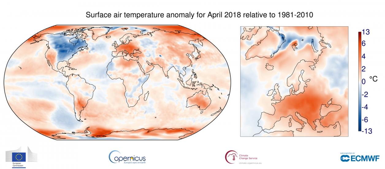 April 2018 Rekordvarmt I Centrala Europa Smhi