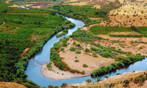 Picture showing the Tigris river