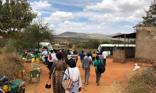 ITP Climate Change Eastern Africa participants on the way to visiting a water harvesting site in Makueni county, Kenya, October 2018.
