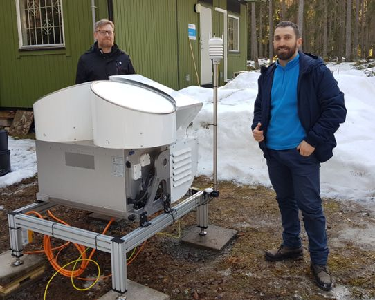 Salomon Eliasson, Leonardo Porcacchia and the cloud radar in Norunda.