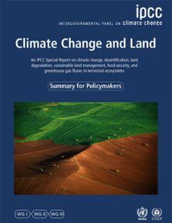 Framsida på IPCC-rapporten Climate Change and Land