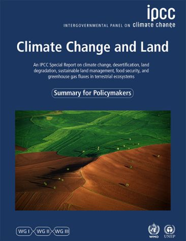 Framsida på IPCC-rapporten Climate Change and Land