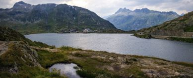 Water reservoir in European Alpine region