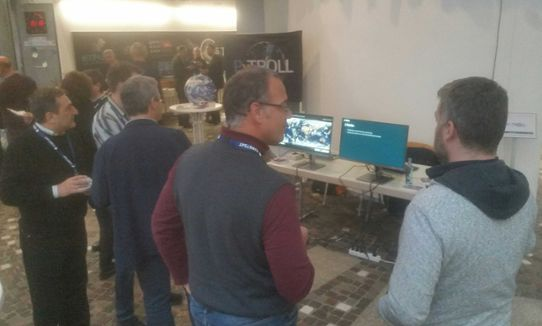 Pytroll stand at EUMETSAT user days November 2019
