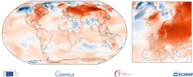 Global temperaturanomali i januari 2020.