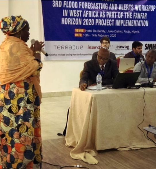 Talare vid 3rd Flood Forecasting and Alerts Workshop, Abuja