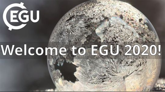 "Bild på glob med testen ""Welcome to EGU 2020"""