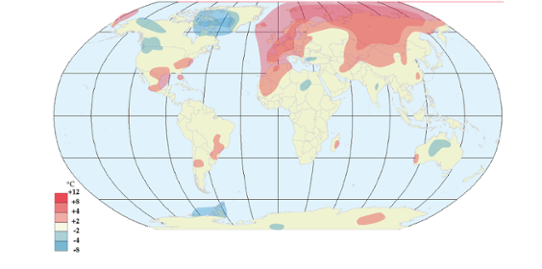 Global temperaturanomali i april 2011
