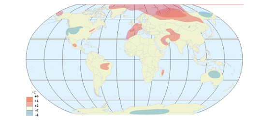 Global temperaturanomali i maj 2011
