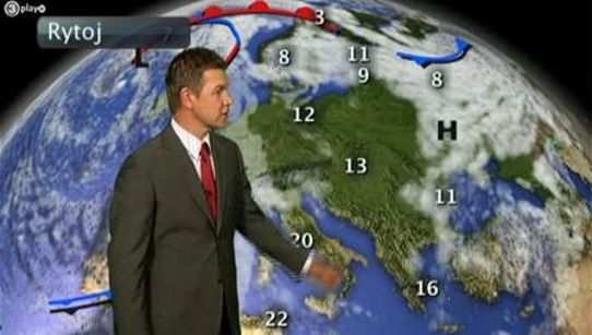 SMHI's weather presentation in TV3, Lithuania