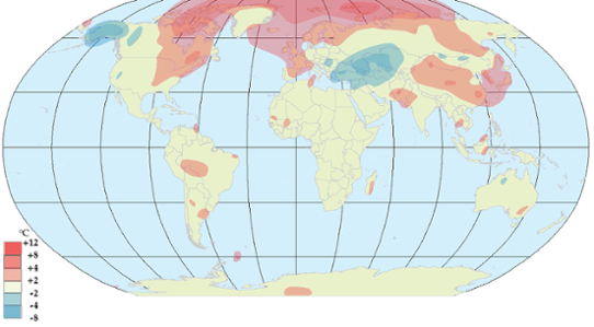 Global temperaturanomali i november 2011