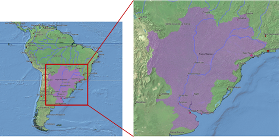 Figure 1. La Plata Basin in South America