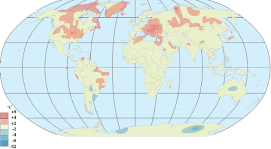 Global temperaturanomali i juli 2012.
