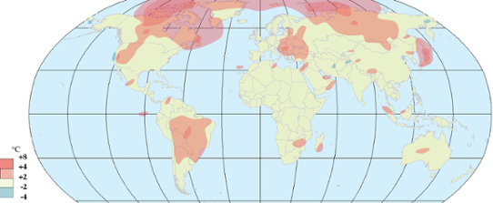 Global temperaturanomali i september 2012.