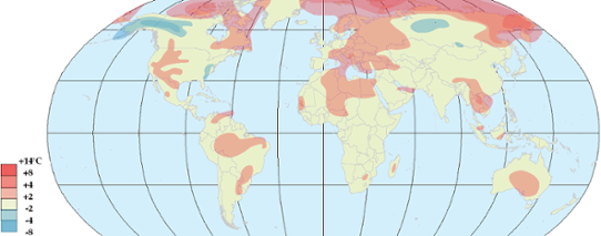 Global temperaturanomali i november 2012.