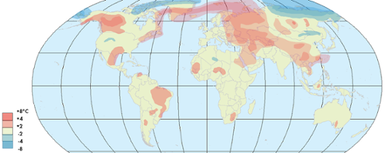 Global temperaturanomali februari 2013