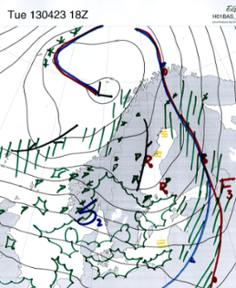 Väderläget 23 april 2013 - 18 UTC