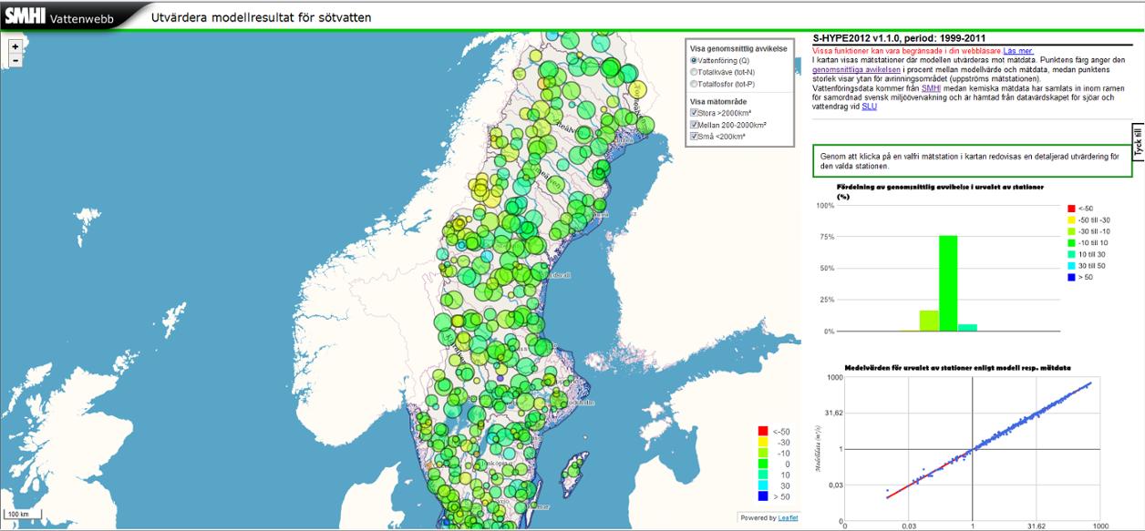 HYPE In Sweden SHYPE SMHI - Sweden map sundsvall