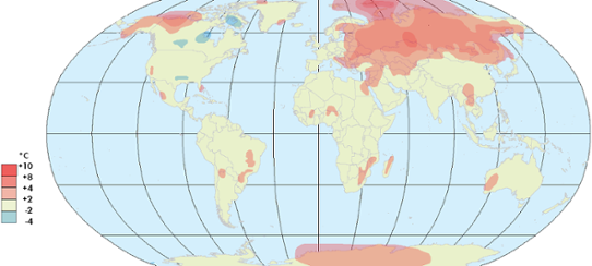 Global temperaturanomali november 2013