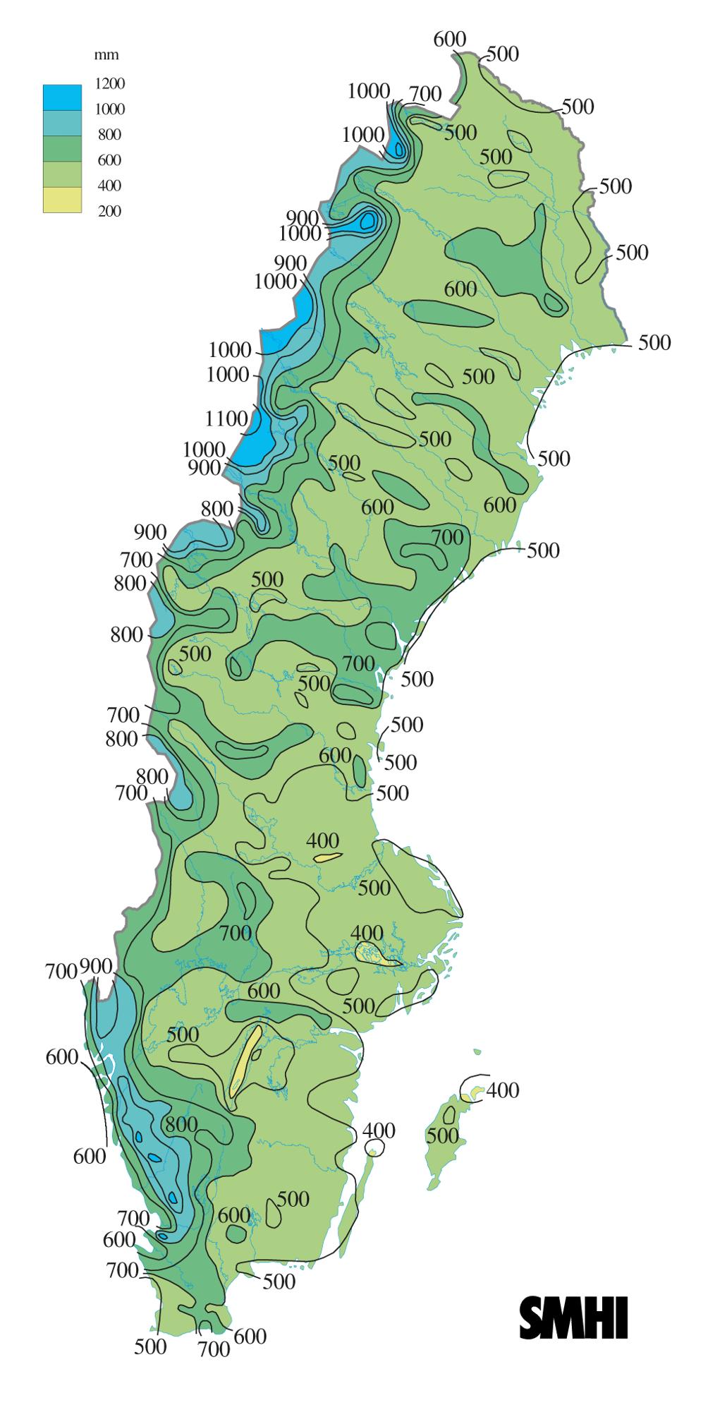 höjd över havet karta sverige Väder och klimat   Skolbok höjd över havet karta sverige