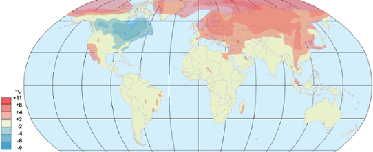 Global temperaturanomali mars 2014