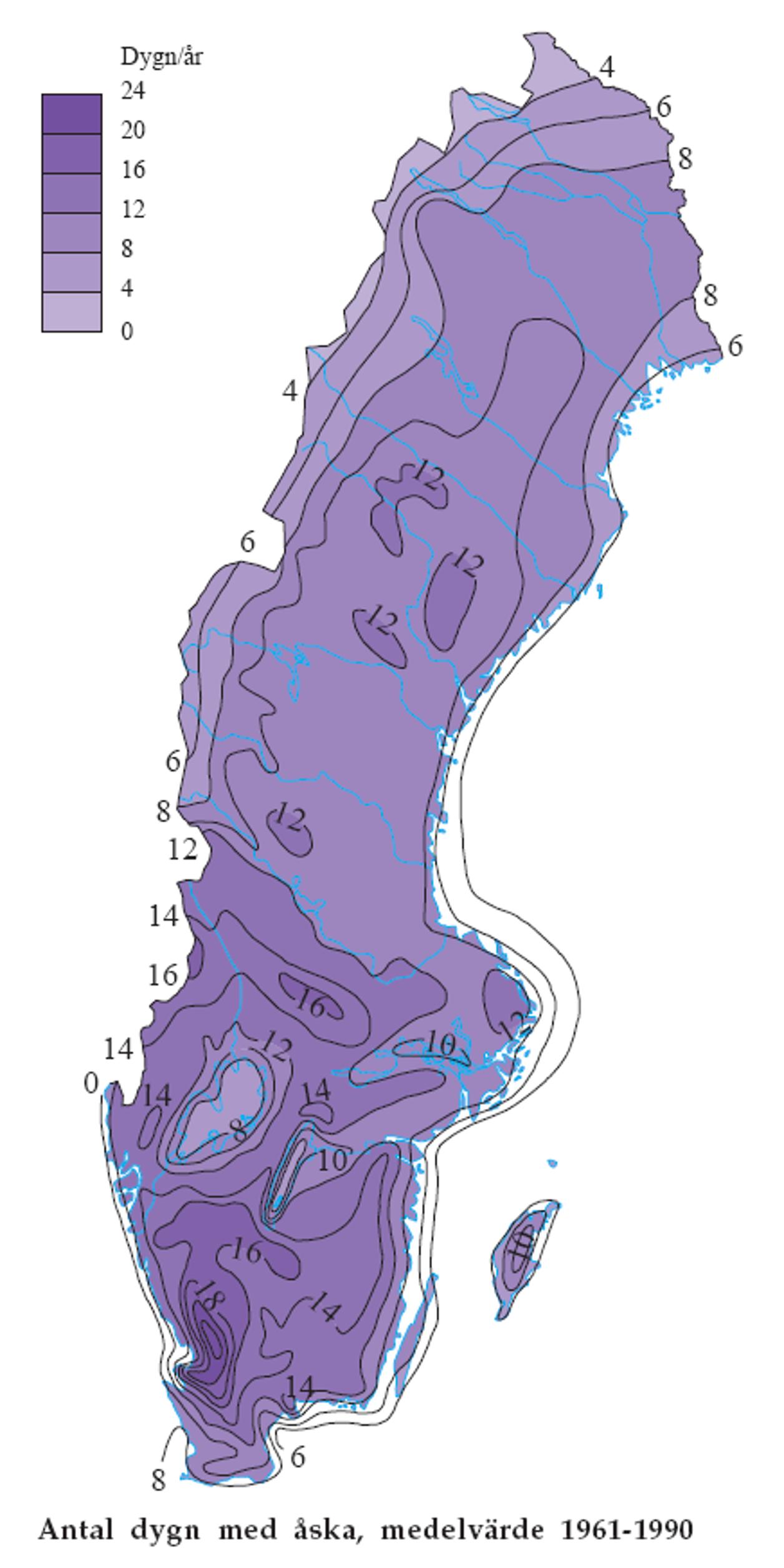 blixtnedslag karta Åska | SMHI blixtnedslag karta