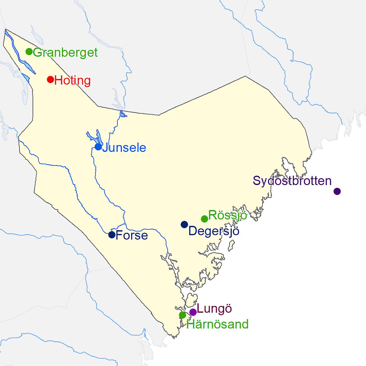 Junsele Karta Sverige.Karta Engermanland