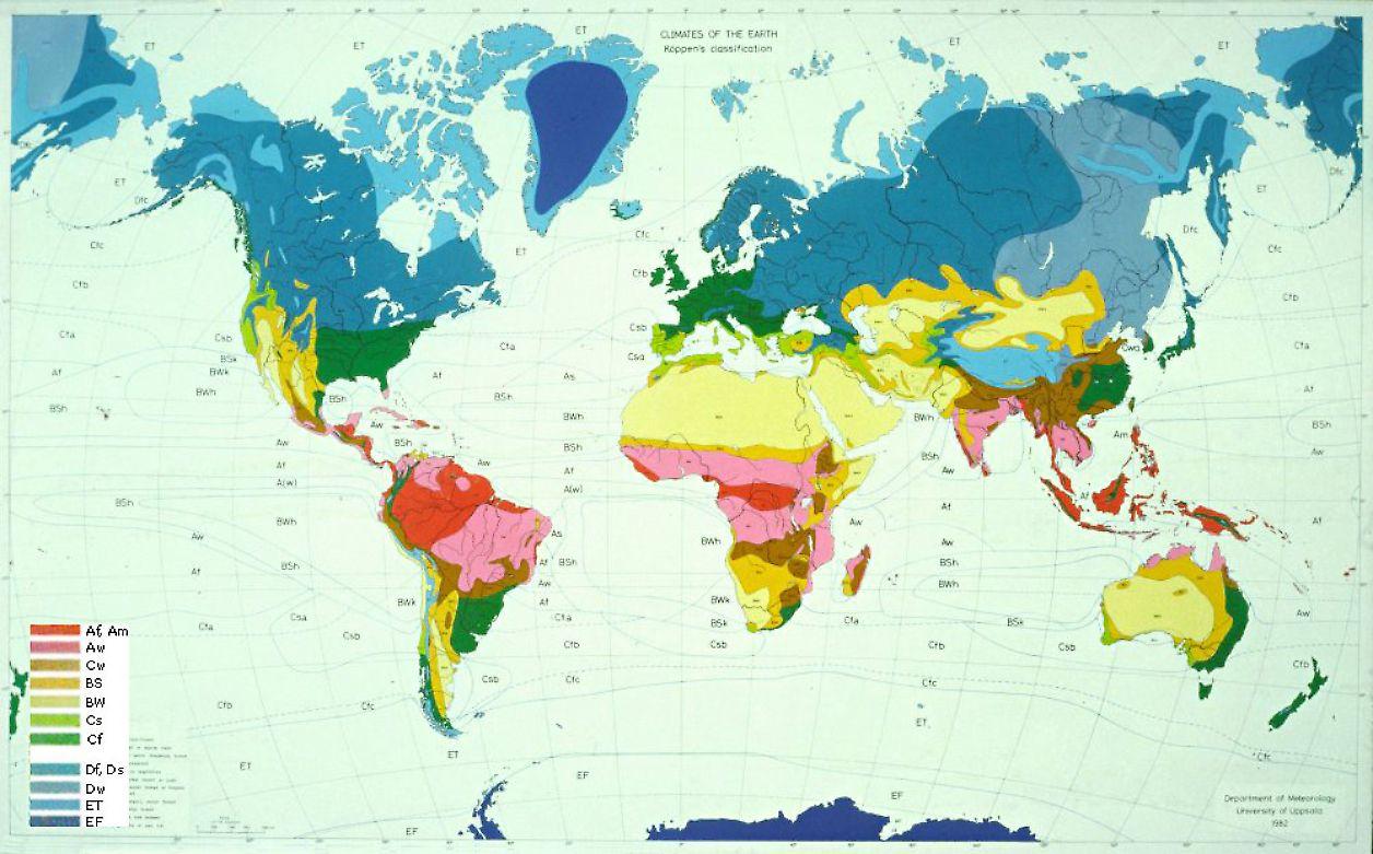 klimatzoner europa karta Jordens huvudklimattyper | SMHI klimatzoner europa karta
