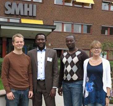Visit from AGRHYMET in Niger to SMHI 2014