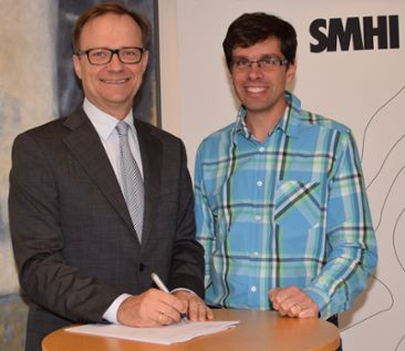 SMHI Director General Rolf Brennerfelt and Director of SMHI's climate research unit