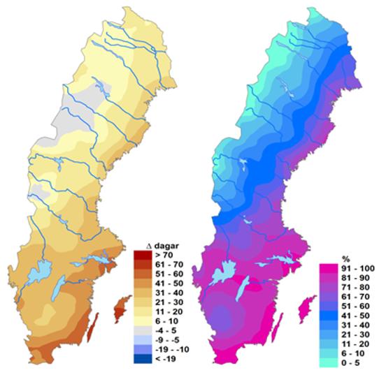 Karta Over Skogsbrander I Sverige.Brandrisker Idag Och I Framtiden Smhi