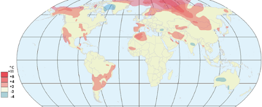 Globala temperaturanomalier april 2015