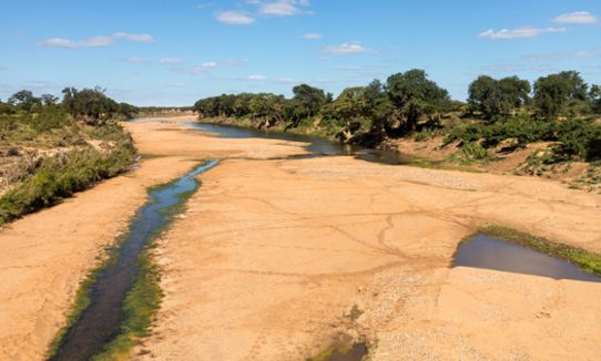 Dry river in Africa.