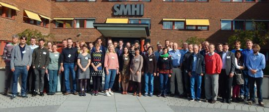 Participants at the HEPEX meeting in September 2015 at SMHI.