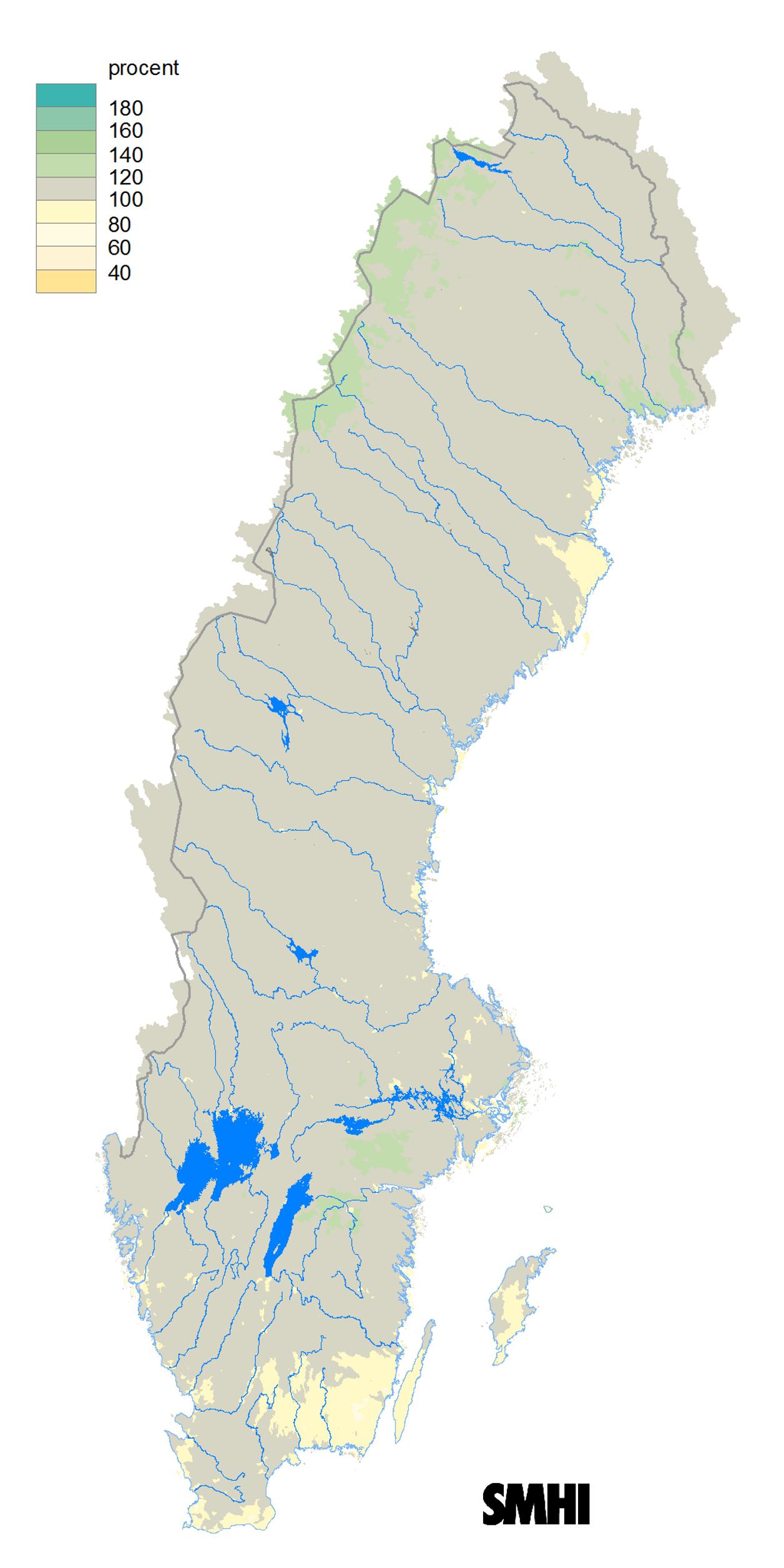 Karta Blekinge Skane.Oktober 2015 Laga Floden I Skane Blekinge Och Smaland Smhi