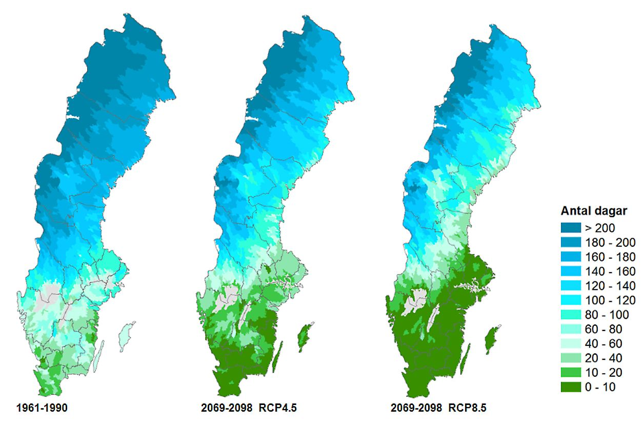 New Analyses Show How The Climate Can Change In Swedish Counties - Sweden map counties