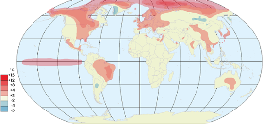 Global temperaturanomali november 2015