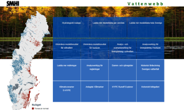 SMHI Waterweb first page